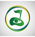 glof field sport badge icon vector image