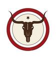 bull skull wild west icon vector image