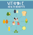 health benefits of vitamin e vector image vector image