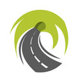 abstract road turn vector image