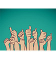 like hands sign and sky vector image