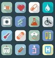 Medicine web colour icons set vector image vector image