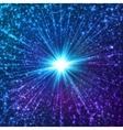 Blue shining cosmic stars vector image vector image
