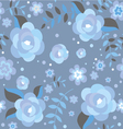 Seamless pattern with ice roses vector image