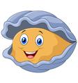 Cartoon happy oyster vector image