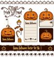 halloween pumpkin set vector image vector image