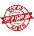made in South Carolina red round vintage stamp vector image