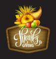 a Thanksgiving cornucopia full of vector image