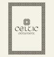 celtic knot braided frame border ornament vector image