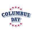Columbus Day USA logo isolated on white background vector image