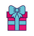 cute fuchsia gift cartoon vector image