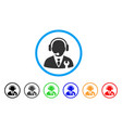 service manager rounded icon vector image