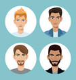 set men teamwork adult vector image