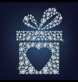 Valentines day concept of gift present with heart vector image
