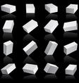 White boxes cube set vector image