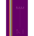 violet menu cover design vector image vector image