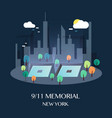 911 memorial new york vector image