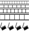 clapper board and film frame vector image vector image