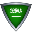 steel shield with flag saudi arabia vector image vector image