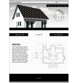 Website template - elegant design vector image vector image