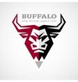 buffalo head logo vector image
