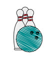 bowling icon image vector image