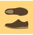 Classical Men Shoes vector image
