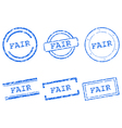 Fair stamps vector image
