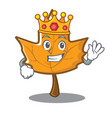 king maple character cartoon style vector image