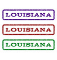louisiana watermark stamp vector image