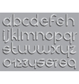 Set of letters font type vector image