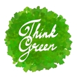 think green on watercolor spot vector image