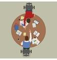 Partnership Deal Between Two Businessmen vector image