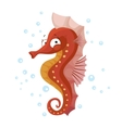Cute seahorse isolated T-Shirt design for children vector image