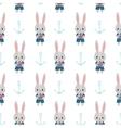 Rabbits and anchors vector image