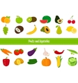 Fruits and Vegetables icons Organic fruits and vector image