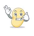 call me soy bean mascot cartoon vector image