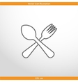 disware and cutlery web icon vector image