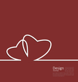 Laconic design of couple hearts for design card on vector image
