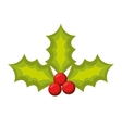 merry christmas leafs decoration vector image