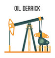 oil derrick for natural product extraction vector image