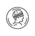 roman emperor profile concept thin line vector image