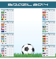 World Soccer Championship Groups vector image