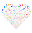 pound sterling fireworks heart vector image