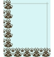 Frame And Pattern vector image vector image