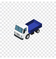 isolated truck isometric lorry element ca vector image