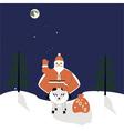 Santa on a sheep vector image vector image