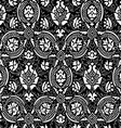 Black and white Seamless abstract floral backgroun vector image