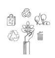 Environment ecology and save nature sketch icons vector image vector image