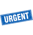 urgent blue square grunge stamp on white vector image